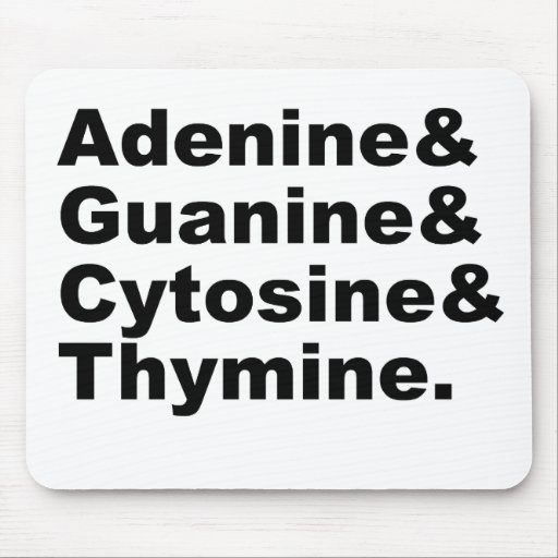 Adenine Guanine Cytosine Thymine DNA Nucleotides Mouse Pads