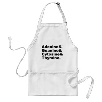 Adenine Guanine Cytosine Thymine DNA Nucleotides Standard Apron