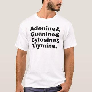 Adenine Guanine Cytosine Thymine DNA Nucleotides T-Shirt