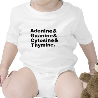 Adenine Guanine Cytosine Thymine DNA Nucleotides Tees
