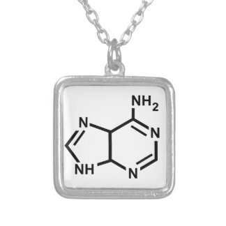 Adenine Silver Plated Necklace