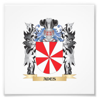 Ades Coat of Arms - Family Crest Photograph