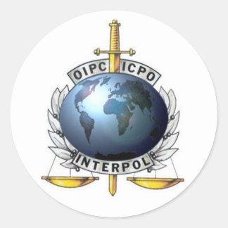 Adesivo Interpol Round Sticker