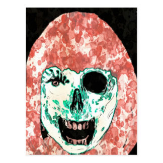 ADH Zombie Watercolor Postcard