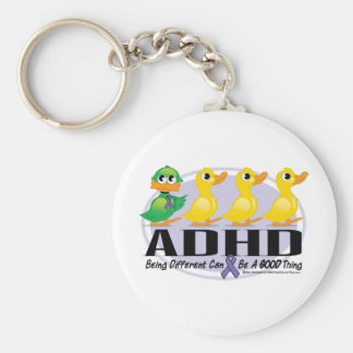 ADHD Ugly Duckling Basic Round Button Key Ring
