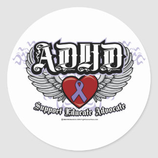 ADHD Wings Classic Round Sticker