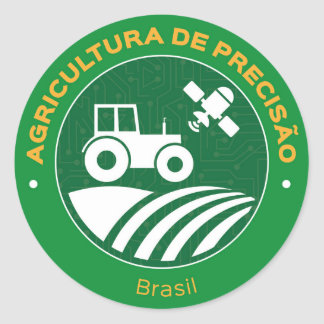 Adhesive Agriculture of Brazil Precision Classic Round Sticker