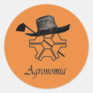 Adhesive Agronomy Classic Round Sticker