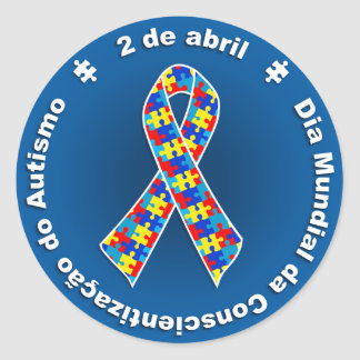 Adhesive Awareness of the Autismo Classic Round Sticker