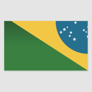 Adhesive Brazil Series - Flag Rectangular Sticker