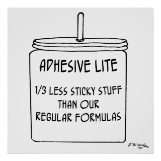 Adhesive Cartoon 6197 Poster