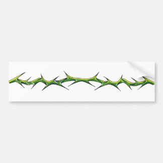 "Adhesive for car ""Thorns "" Bumper Sticker"