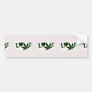 adhesive love bumper sticker