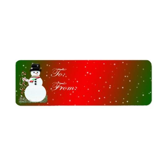 Adhesive Snowman Gift Tags
