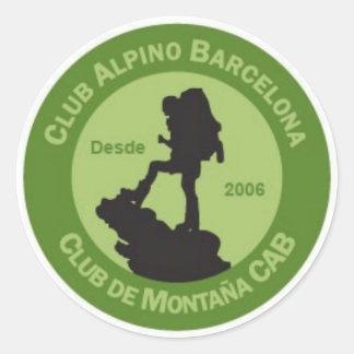 Adhesives Alpine Club Barcelona Round Sticker