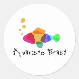 Adhesives Aquarismo Brazil Classic Round Sticker