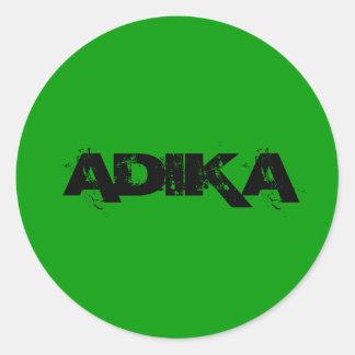 ADIKA ROUND STICKER