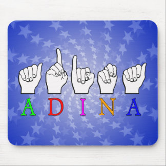 ADINA FINGERSPELLED ASL NAME SIGN MOUSE PAD