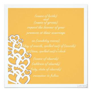 adinkra akoma (heart) beeswax invitation
