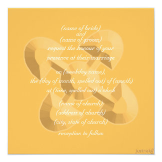 adinkra akoma ntoaso (united hearts) beeswax 13 cm x 13 cm square invitation card