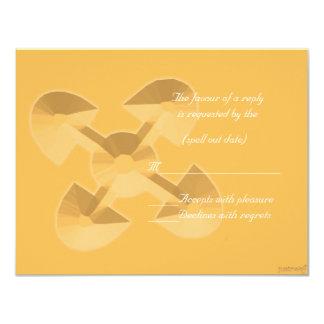 """adinkra akoma ntoaso (united hearts) beeswax rs 4.25"""" x 5.5"""" invitation card"""
