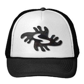 Adinkra-peace-shiny black trucker hat