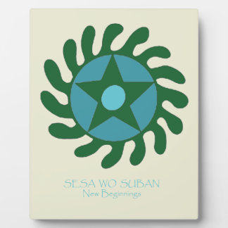Adinkra Sesa Wo Suban - New Beginnings Plaque