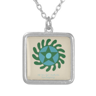 Adinkra Sesa Wo Suban - New Beginnings Silver Plated Necklace