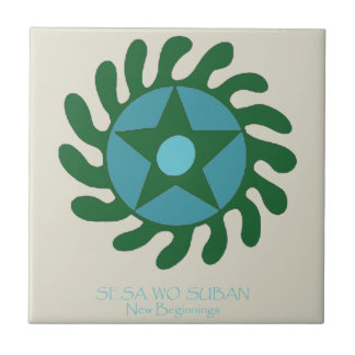 Adinkra Sesa Wo Suban - New Beginnings Tile