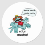 Adios Amoebas Round Sticker