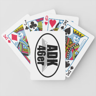 Adirondack 46er bicycle playing cards