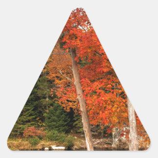 Adirondack Autumn Triangle Sticker