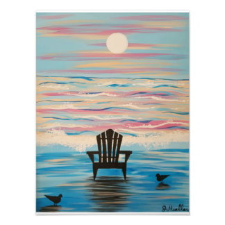 Adirondack Beach Chair 12x16 print