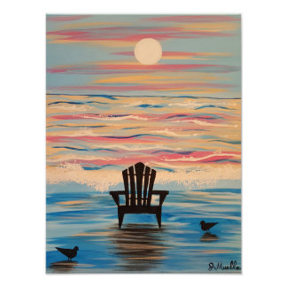 Adirondack Beach Chair Photo Print