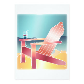 Adirondack Beach Chair Relaxing Announcement