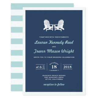 Adirondack Beach Chairs Wedding Invitation