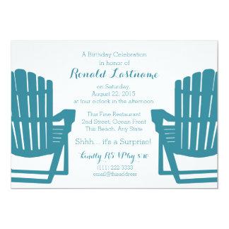 Adirondack Chairs Beach Birthday 13 Cm X 18 Cm Invitation Card