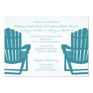 Adirondack Chairs Beach Wedding 13 Cm X 18 Cm Invitation Card