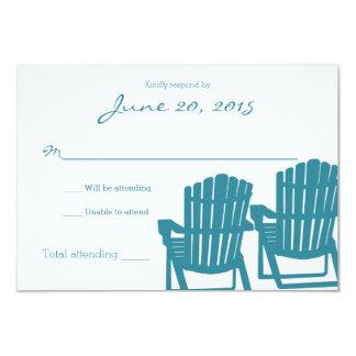 Adirondack Chairs Beach Wedding Response Card 9 Cm X 13 Cm Invitation Card
