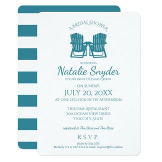 Adirondack Chairs Bridal Shower Card