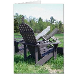 Adirondack Chairs Card