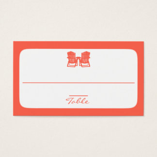 Adirondack Chairs Coral Place Cards
