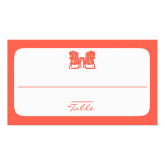 Adirondack Chairs Coral Place Cards Pack Of Standard Business Cards