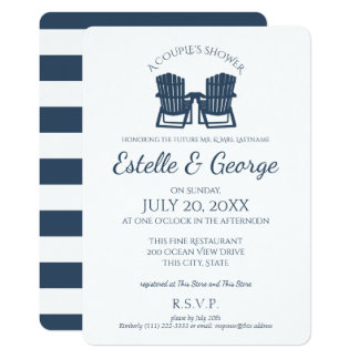 Adirondack Chairs Couple's Shower Card