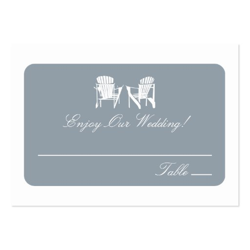 Adirondack Chairs   Escort Cards Business Card Templates