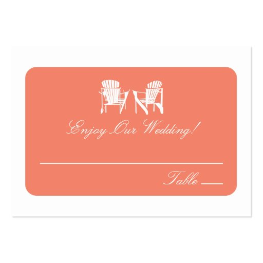 Adirondack Chairs   Escort Cards Business Cards