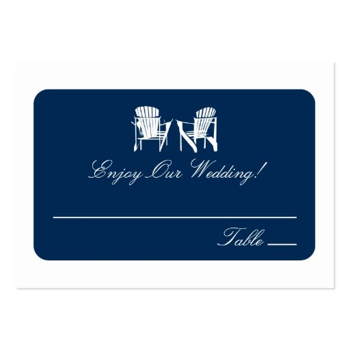 Adirondack Chairs   Escort Cards Business Card Template