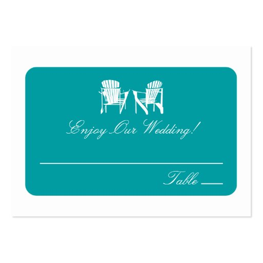Adirondack Chairs   Escort Cards Business Card