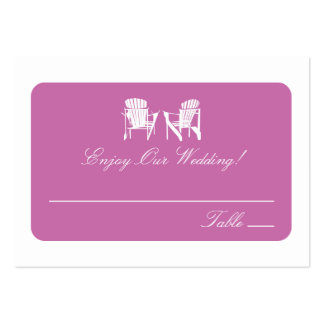 Adirondack Chairs | Escort Cards Pack Of Chubby Business Cards