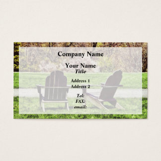 Adirondack Chairs In Spring Business Card